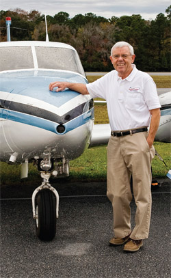 Jack Schuler in an Angel Flight shirt