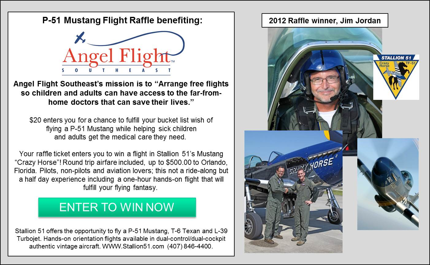 P-51 Mustang Flight Raffle Graphic for website Jim Jordan
