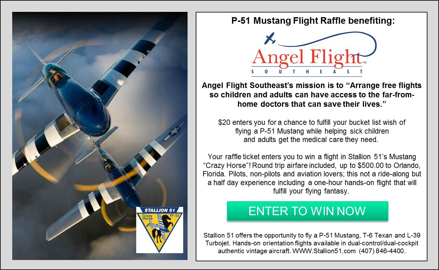 P-51 Mustang Flight Raffle Graphic for website